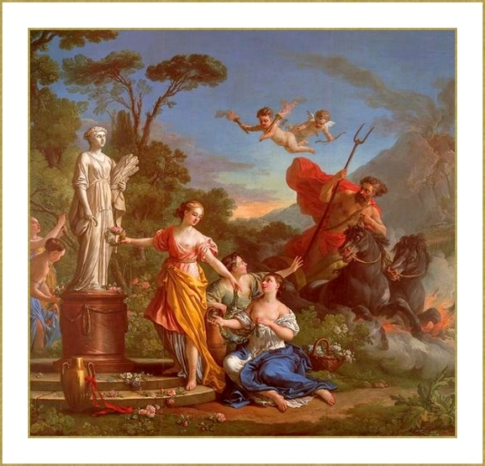 Proserpine ornant la statue de Cérès