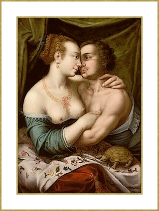55 attribue  joos van winghe en couple