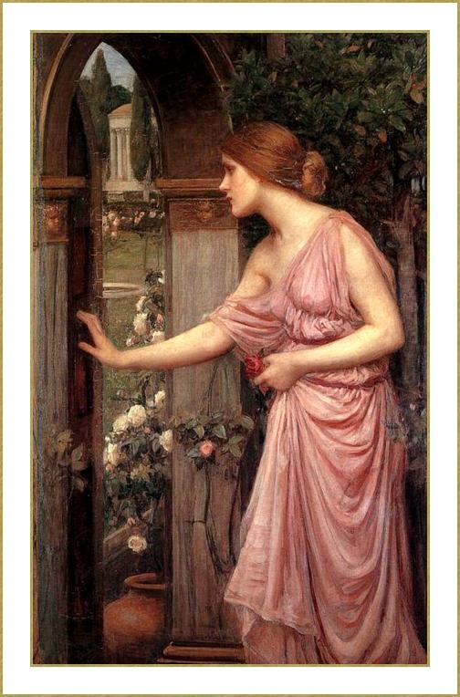 Psyché entrant dans le jardin de Cupidon