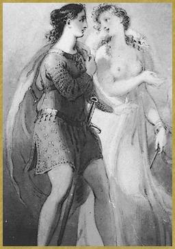 57 Bradamante Melissa chez Merlin Richard Westall