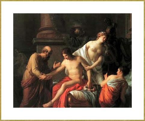 Alcibiade surpris par Socrate dans la maison d'une courtisane