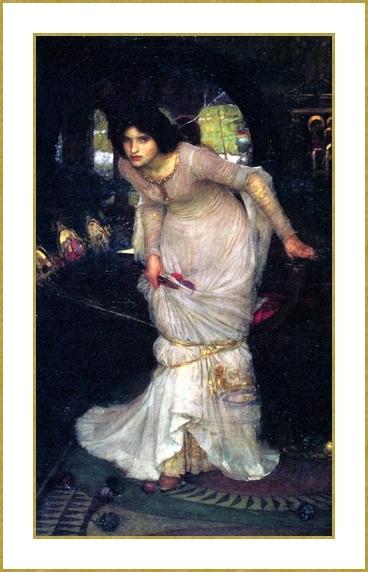 La dame de Shalott recherchant Lancelot