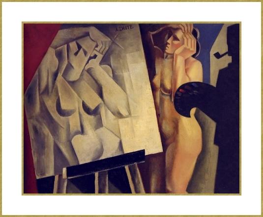 30 Lhote-le peintre et son modele-1920-Le Cubisme
