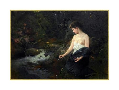 18 jeune fille pres du ruisseau