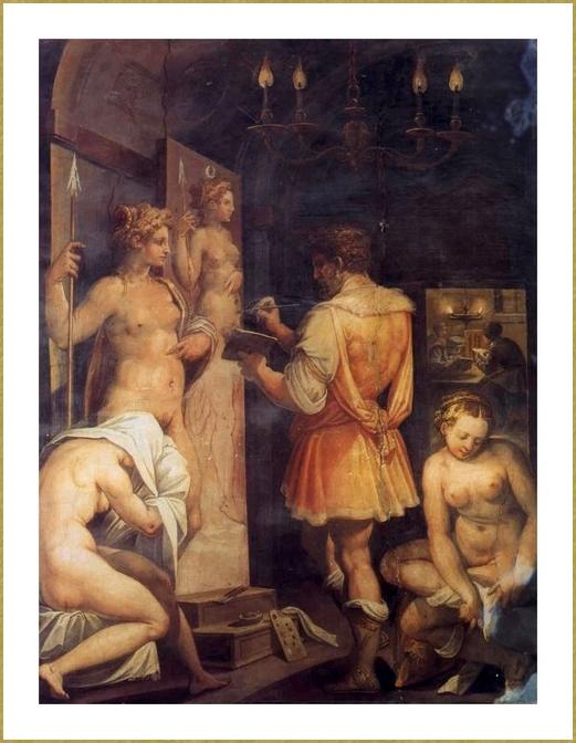 35 Vasari atelier peintre
