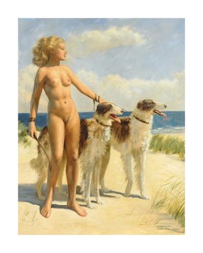60 avec des chiens sur un plage (1)