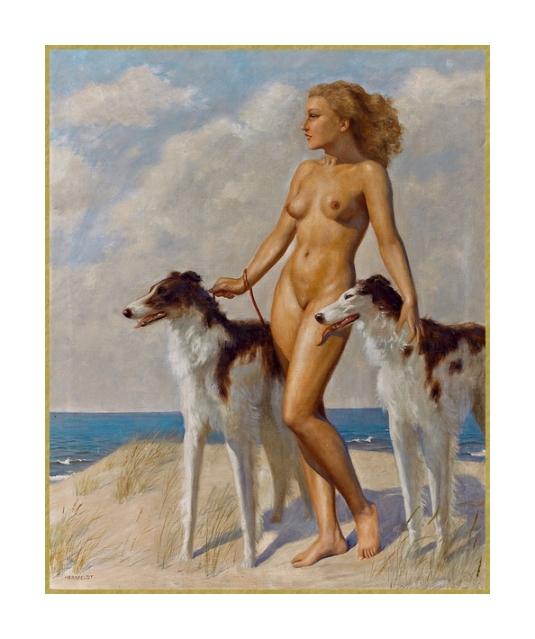 60 avec des chiens sur un plage (2)