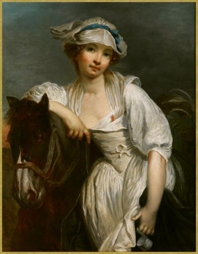 82 J Greuze_ Jeune fille et cheval
