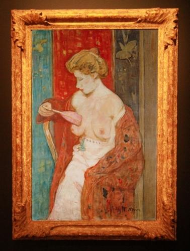 Femme au peignoir rouge