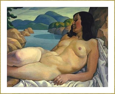 10 1930 Nude in Landscape Edwin Holgate (1)
