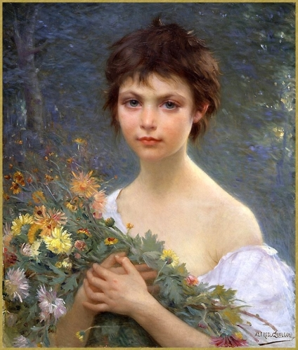 Jeune fille au bouquet *
