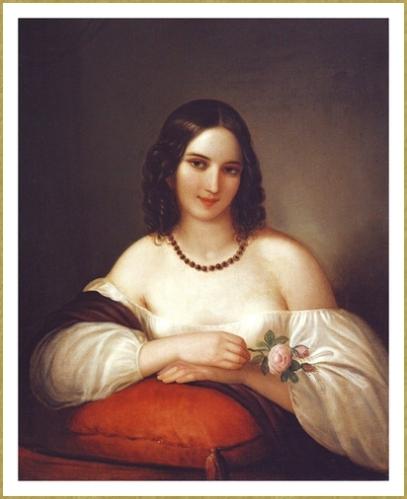 Jeune femme à la rose *