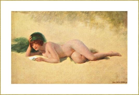 Lecture sur la plage *