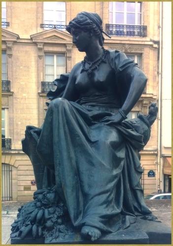Statue commandée en 1877 et alors placée au Palais du Trocadéro