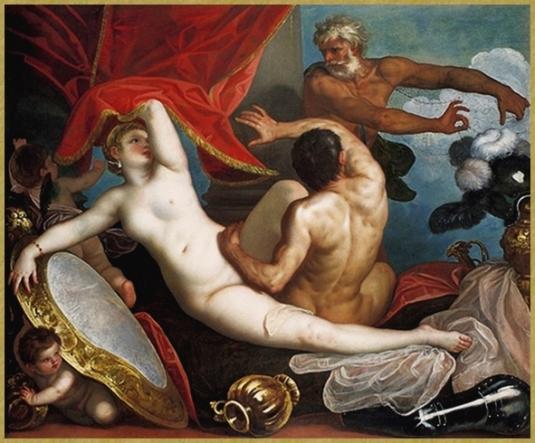 Vénus et Mars surpris par Vulcain *
