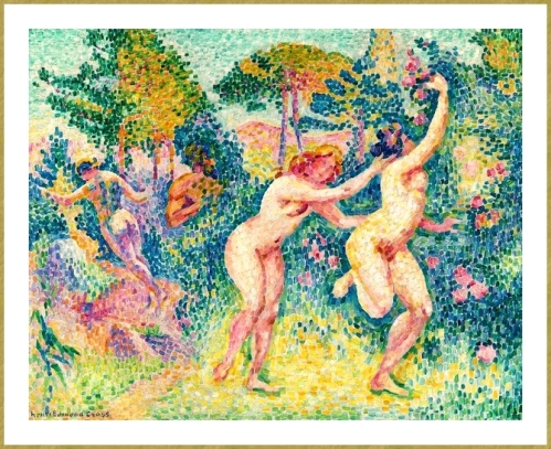 18 Henri edmond Cross-La-fuite-des-nymphes