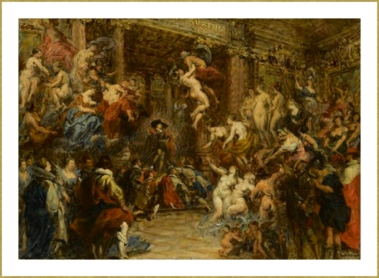 Les inondation à Paris Salle Rubens à Paris *