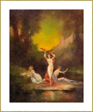 Femmes au bain .
