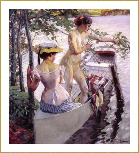 Bain dpuis la barque *