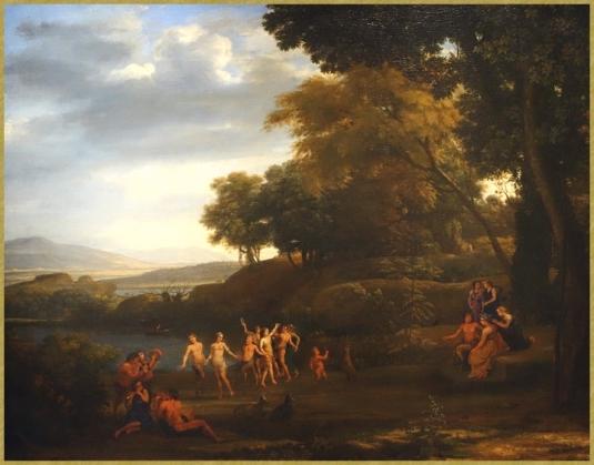 Nymphes et satyres dansant