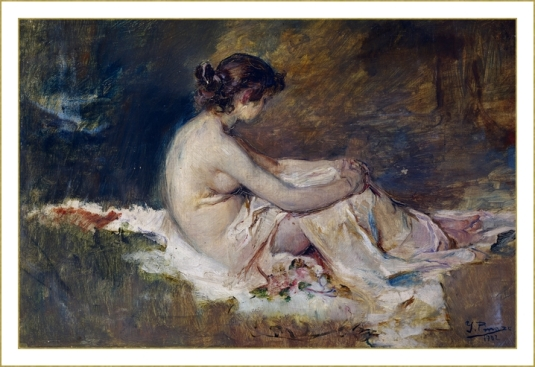 Jeune fille assise *