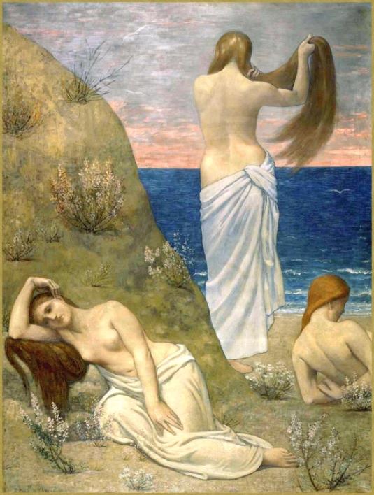 Jeunes filles au bord de l'eau *