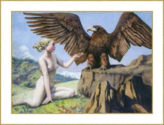 Femme et aigle *