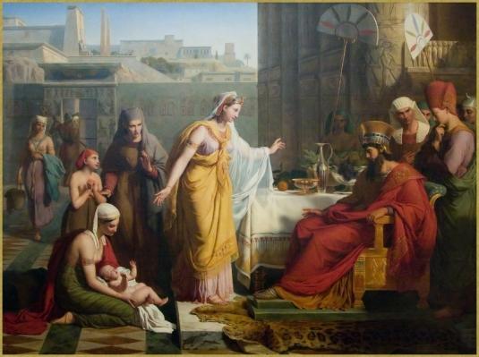 Moïse présenté à Pharaon *