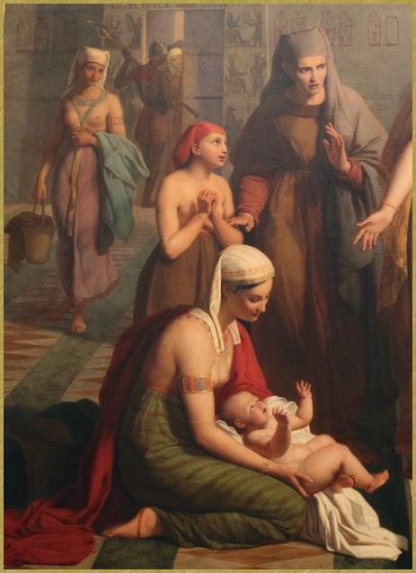 Moïse présenté à Pharaon