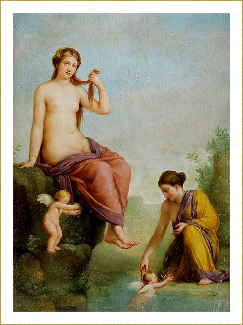 Vénus, nymphe et amours *