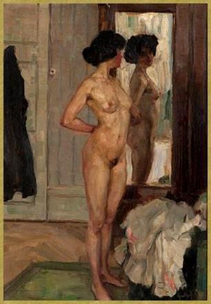 Nue devant le miroir *