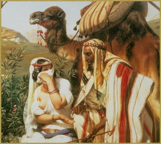 Jehuda et Tamar (détail) *