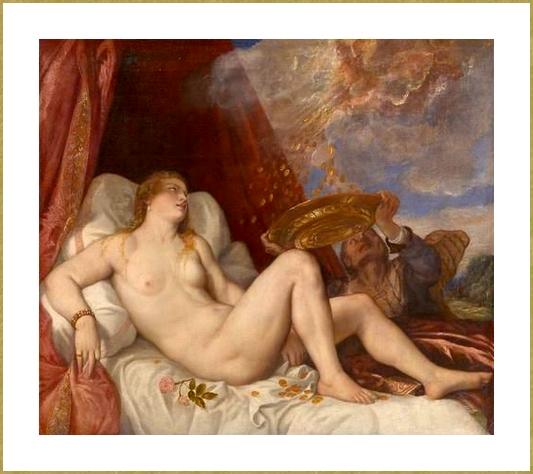 Danaé (copie du tableau de le Titien)