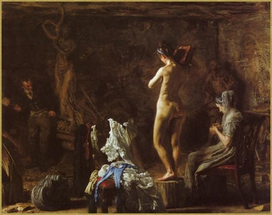 Atelier du sculpteur.