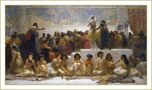 Le marché des esclaves à Babylone *