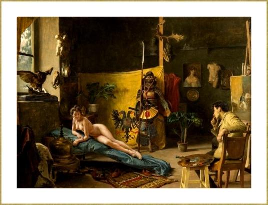 Dans l'atelier du peintre *